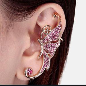 HP!! NWT Boho Gold Pink Butterfly Ear Cuff!
